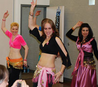 Belly dancers at the Shiver Me Shimmies show